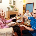 Auchtermairnie Care Home has created a 1950s-style living room