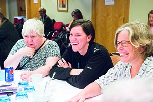 Inspection volunteers, like Heather Blair (left), are playing an increasing role in the Care Inspectorate's work