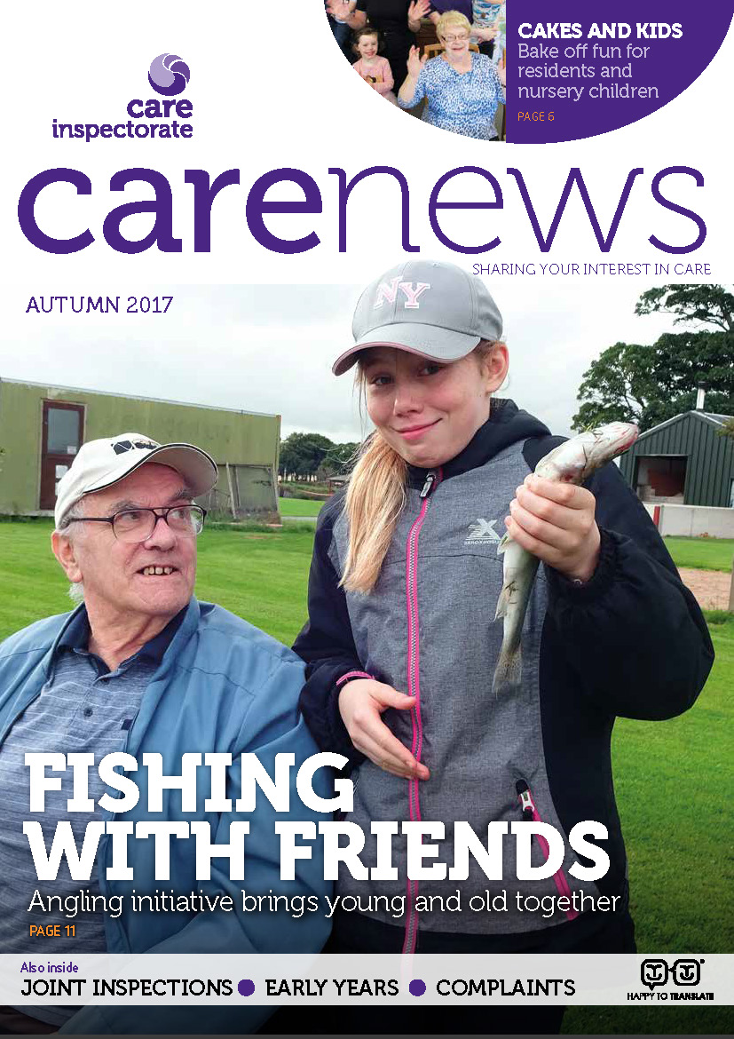 Front page of Care News Autumn 2017